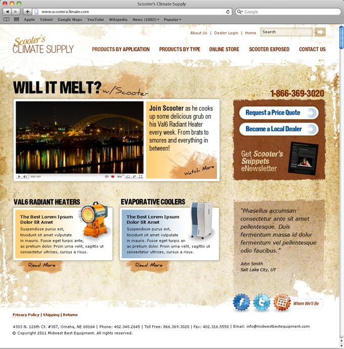 Heating and Cooling Supply Home Page
