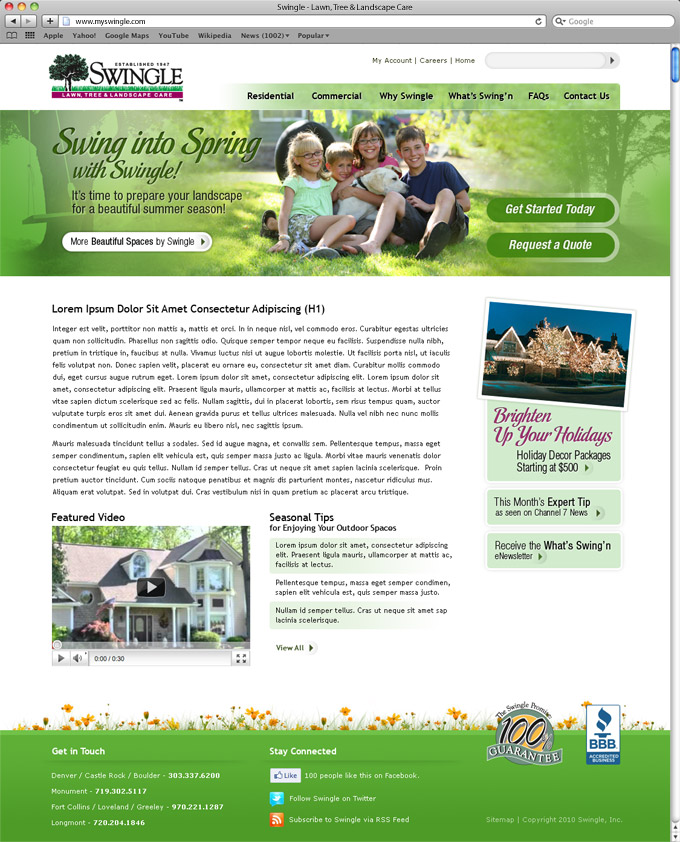 Swingle Spring Home Page